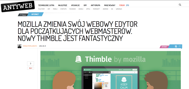 """New Thimble is Fantastic"" Poland loves Thimble!"